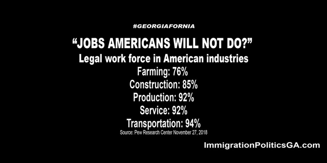 Jobs Americans will not do