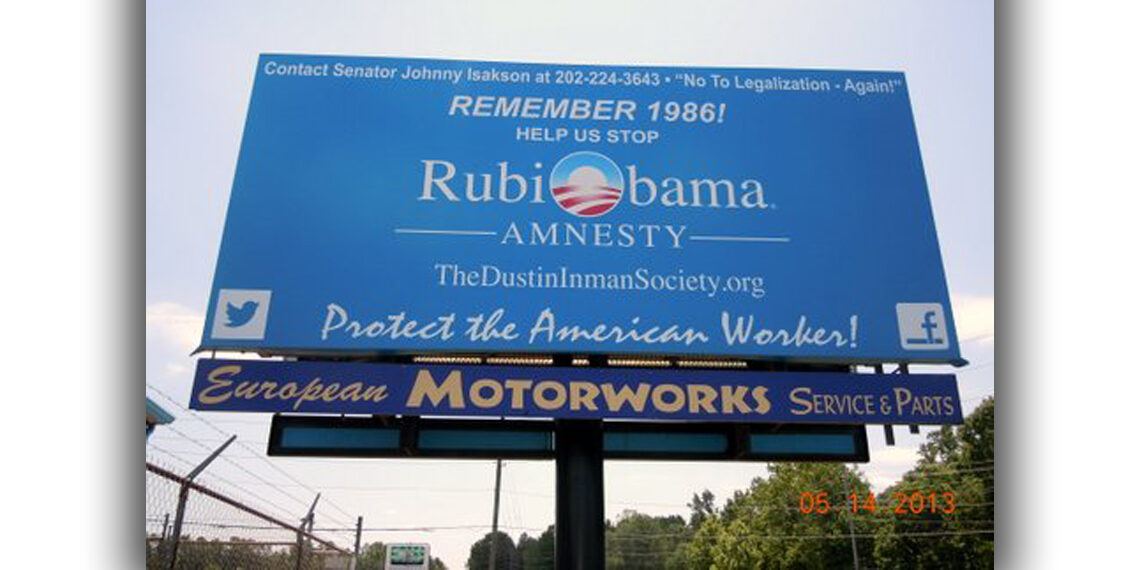 RubiObama bill board