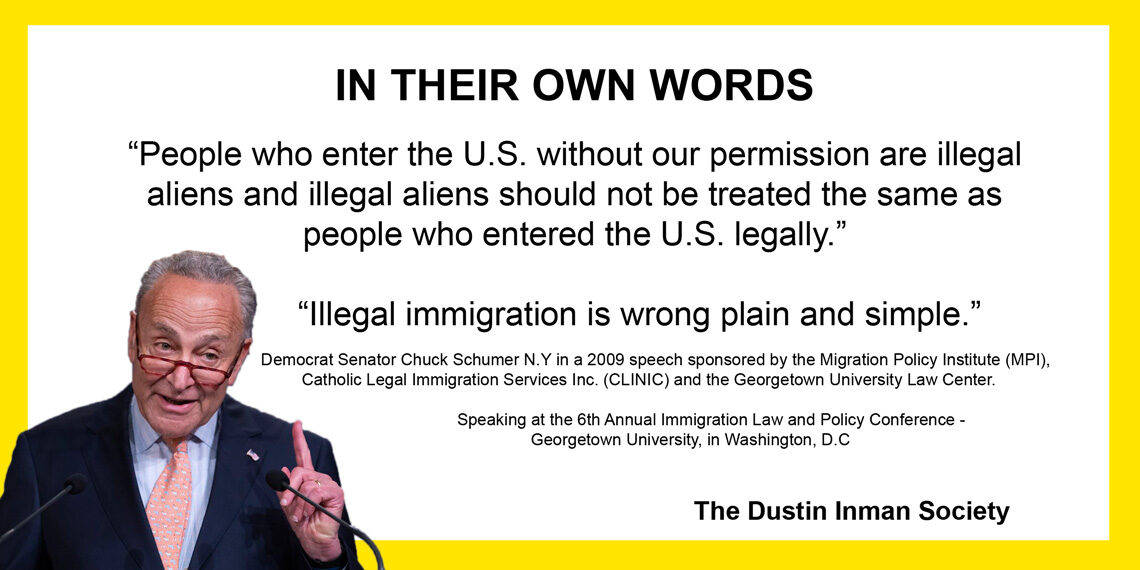 In their own words Schumer illegal aliens