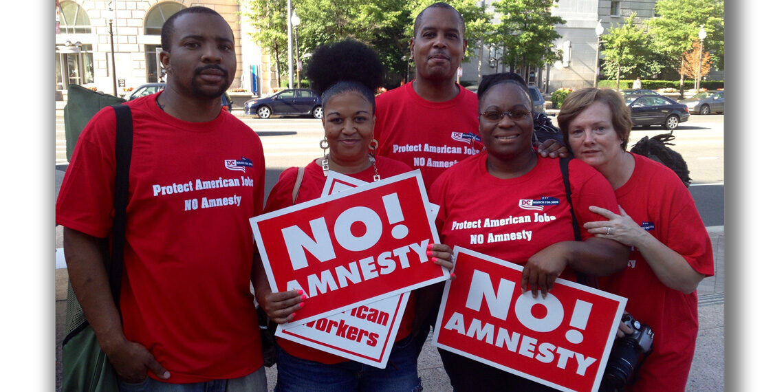 NO Amnesty red shirts DC new