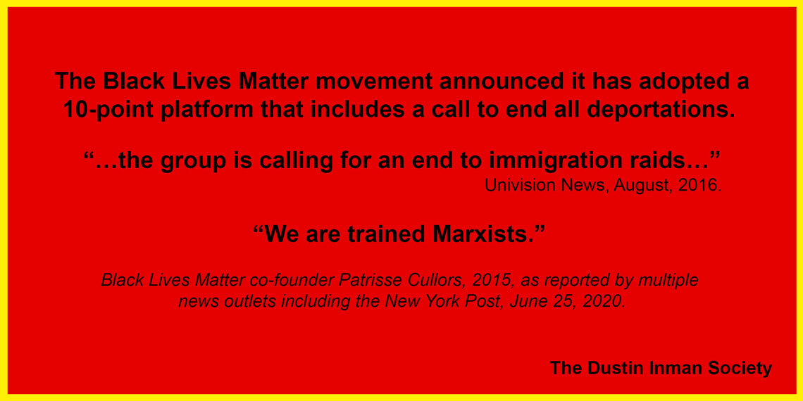 We are trained Marxists BLM