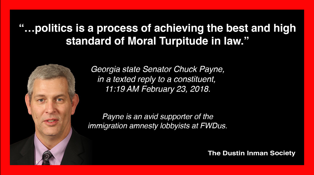 Moral turpitude Chuck Payne