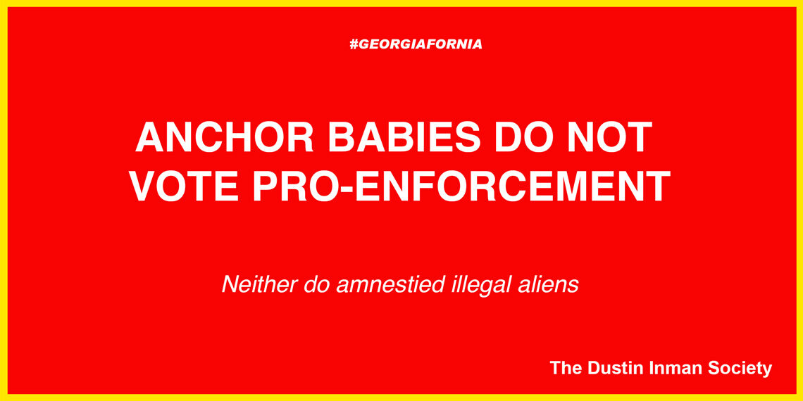 Anchor babies do not vote pro-enforcement